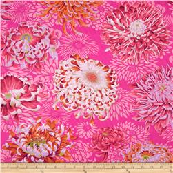 Kaffe Fassett Collective Floating Mums Magenta