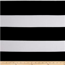Rayon Spandex XL Stripe Black/White