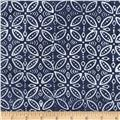 Timeless Treasures Tonga Batiks Breeze Stamp Blue