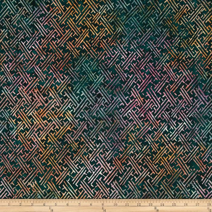 Timeless Treasures Tonga Batik Topaz Tile Geo Jungle