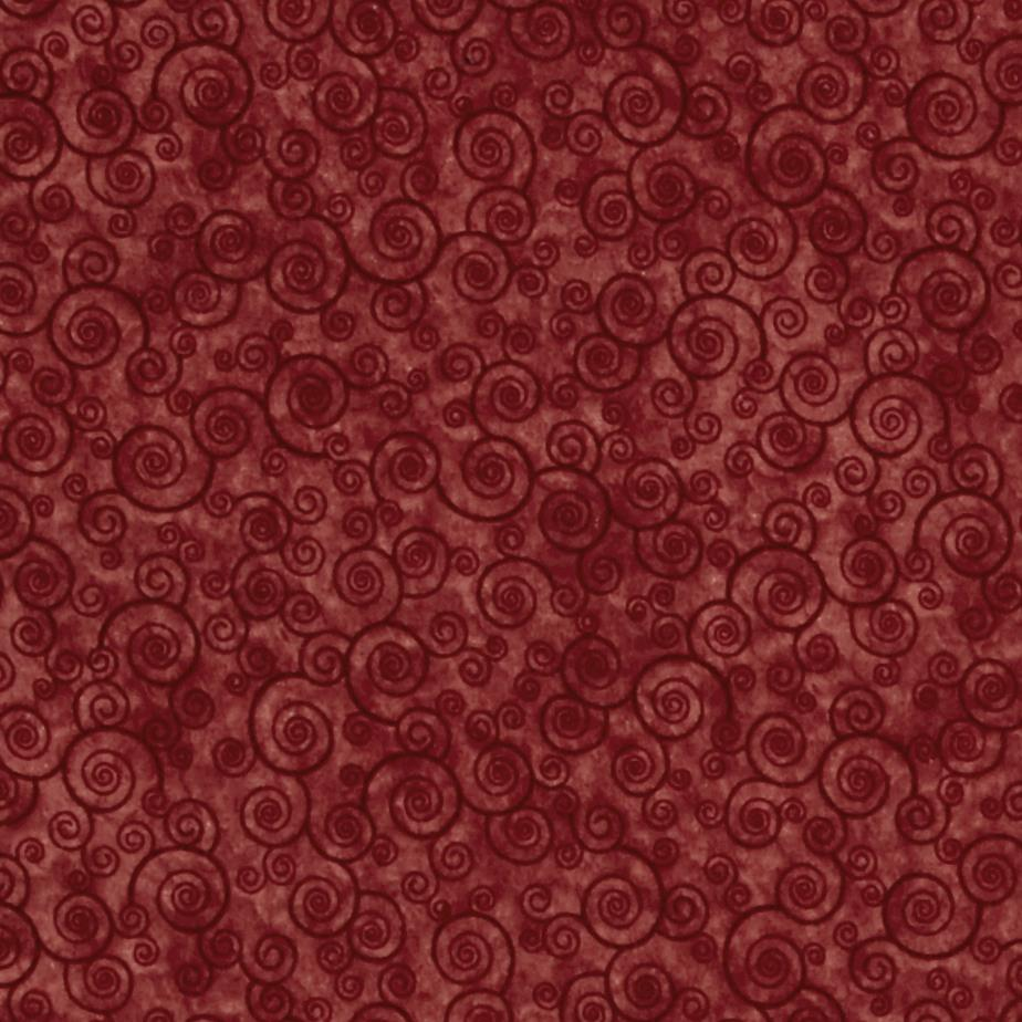 Harmony Flannel Curly Scroll Paprika