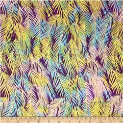 Indian Batik Fir Sprigs Metallic Purple