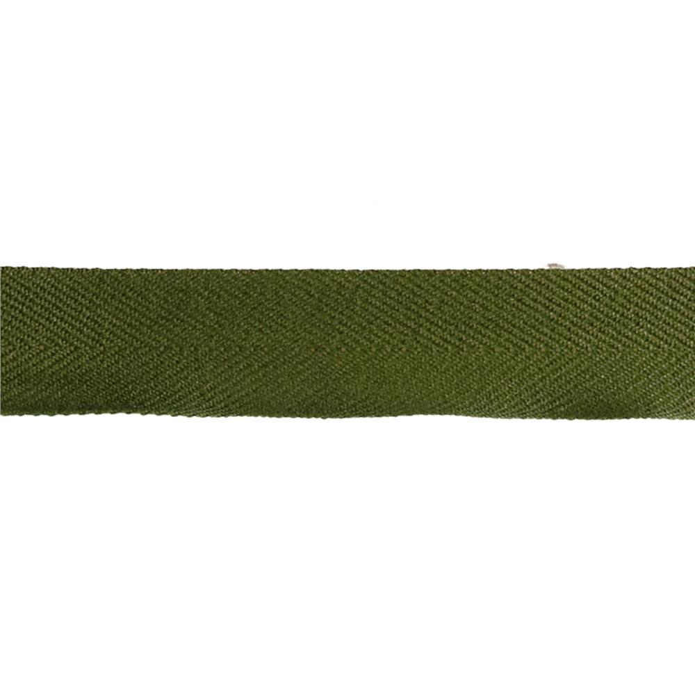 "May Arts 1 1/2"" Twill Ribbon Spool Olive"