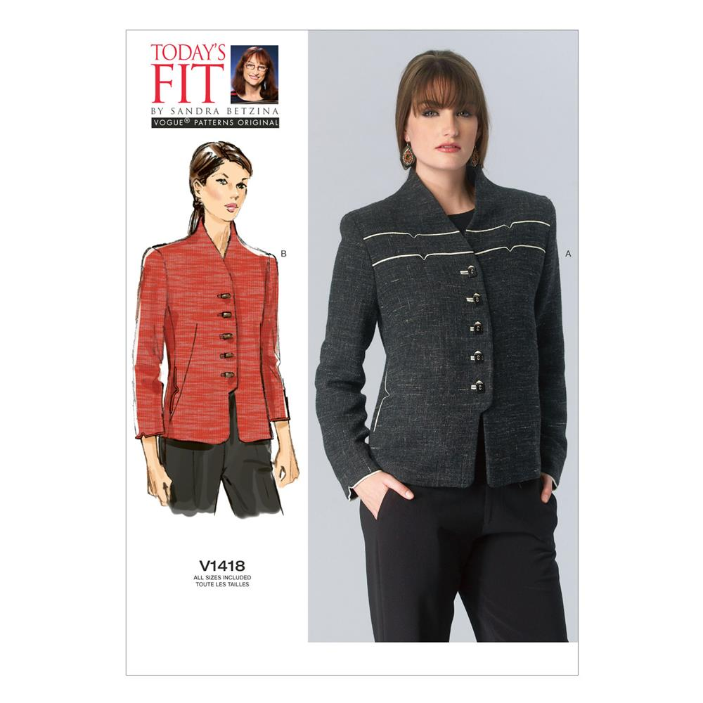 Vogue Misses' Jacket Pattern V1418 Size OSZ