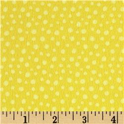 Woodland Friends Flannel Dots Yellow
