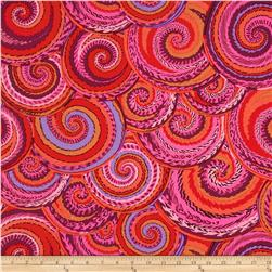 Kaffe Fassett Spring 2014 Collective Volcano Curly Baskets Red