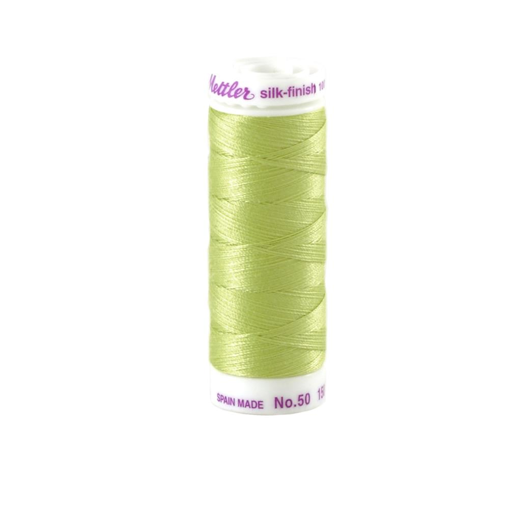 Mettler Cotton All Purpose Thread 3-ply 50wt 164YDS Spring Green