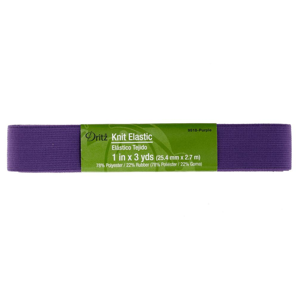"1"" Dritz Knit Elastic Purple"