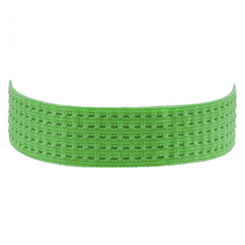 "1-3/8"" Stretch Perforated Headbands Green"