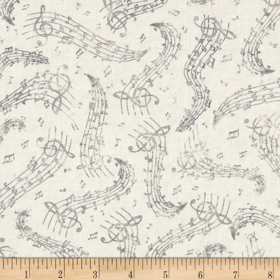 Timeless Treasures Music Notes Cream