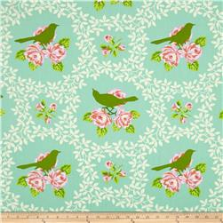 Heather Bailey Up Parasol Mockingbird Turquoise Fabric