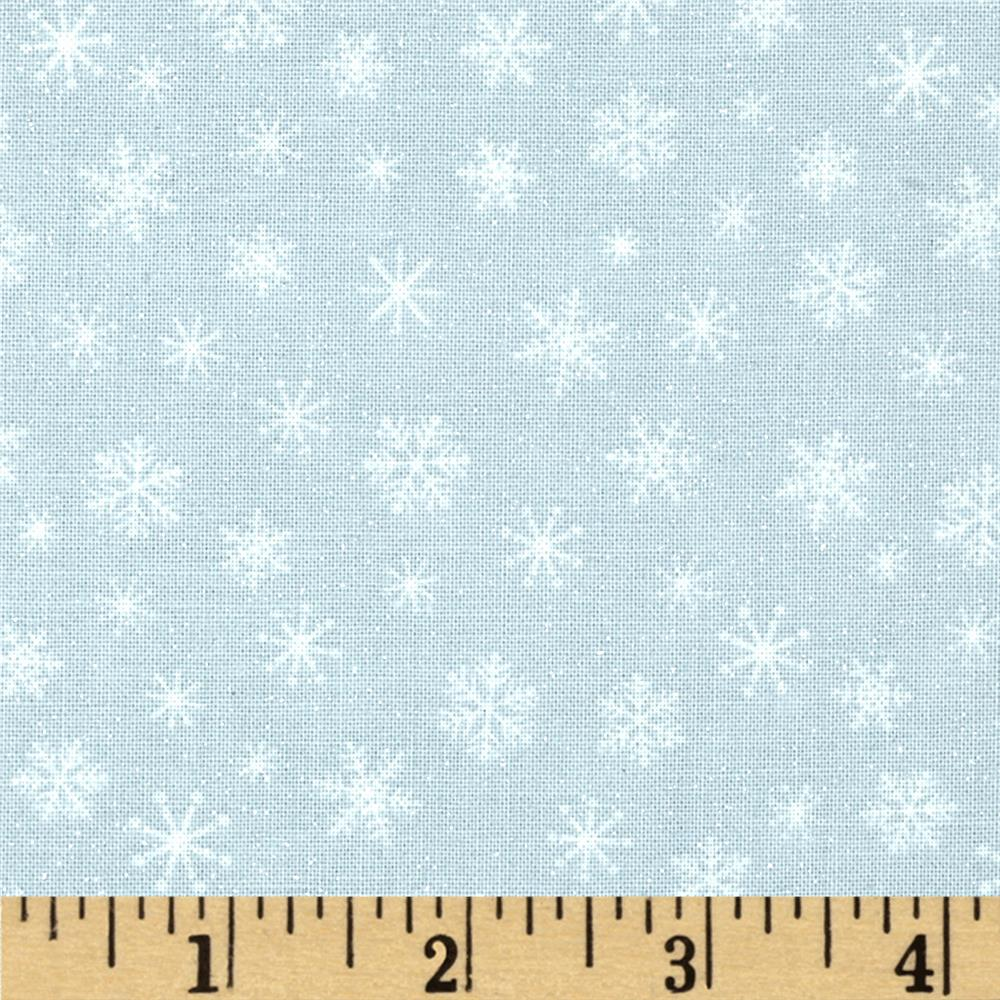 Let It Snow Glitter Snowflake Tonal Gray