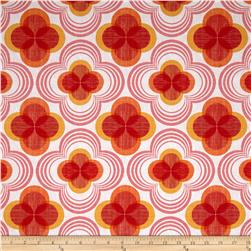 Kaufman Auntie's Attic Flower Canvas Orange