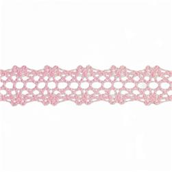 "5/8"" Crochet Lace Trim Pink"