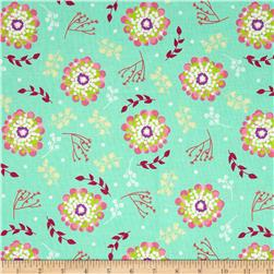 Riley Blake Floriography Floral Green