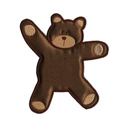 Simplicity Especially Baby Iron On Applique Brown Bear