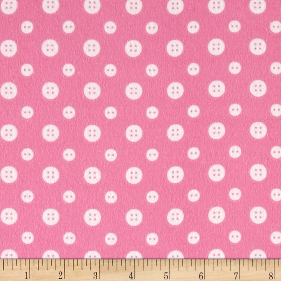 Ric Rac Paddywack Flannel Pink Buttons