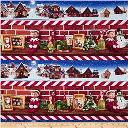 Elf on the Shelf Scenic Stripe Red Fabric