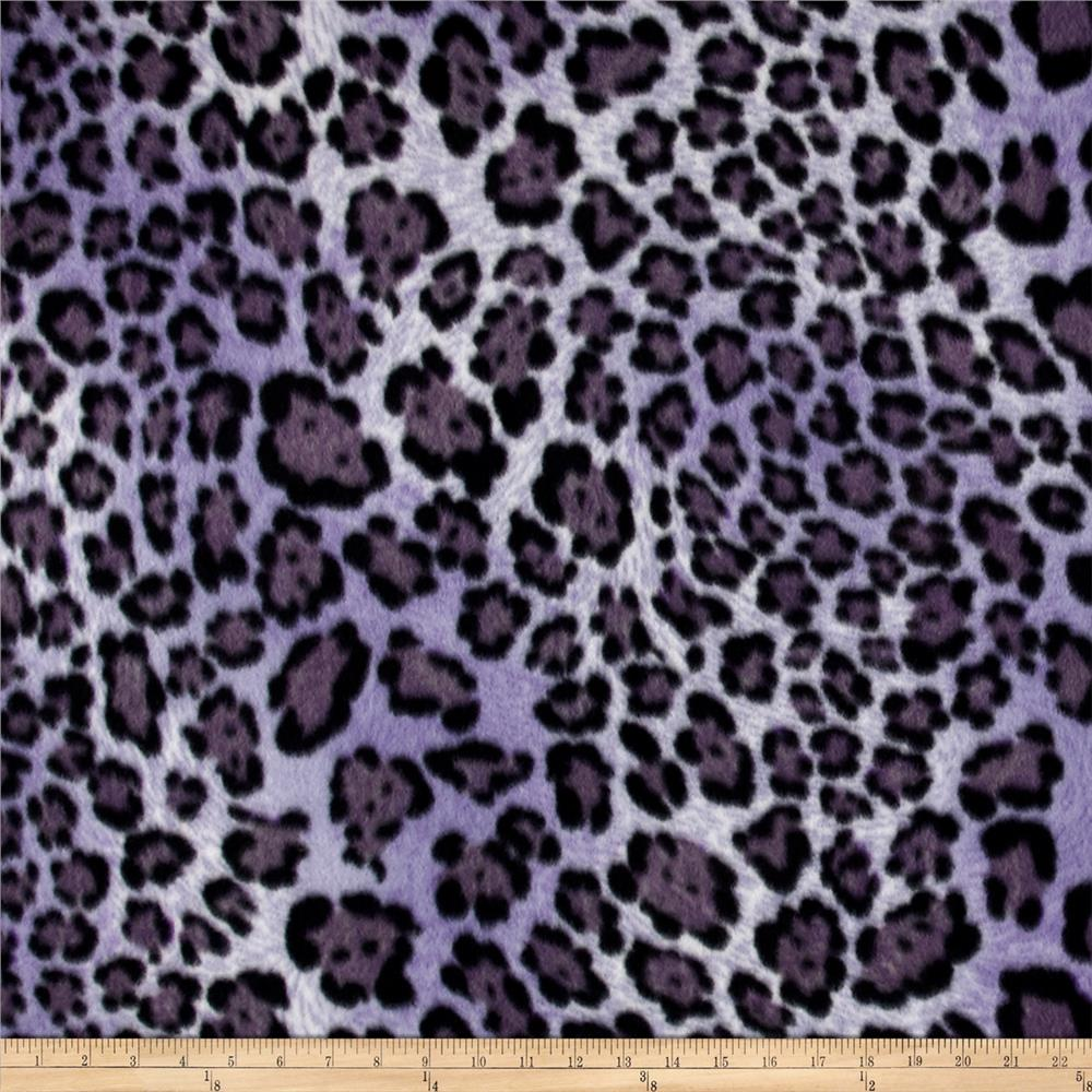 Polar Fleece Print Big Hunter Purple Fabric By The Yard