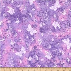 Tossed Butterflies Purple