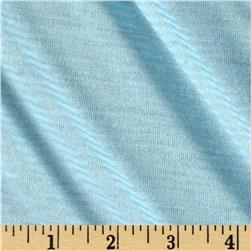 Pin Stripe Jersey Knit Aqua/White