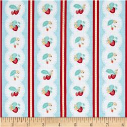 Penny Rose Shabby Strawberry Stripe Blue