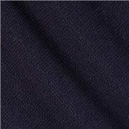 French Terry Knit Textured Indigo Blue
