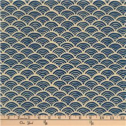 Kaufman Kasuri Tiles Denim