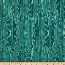 Joel Dewberry True Colors Wood Grain Teal Fabric