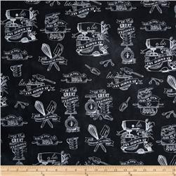 Robert Kaufman In The Kitchen Retro Kitchen Black/Charcoal