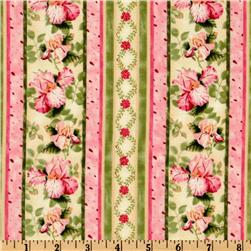 Petal Me Pink Stripe Pink/Cream/Green