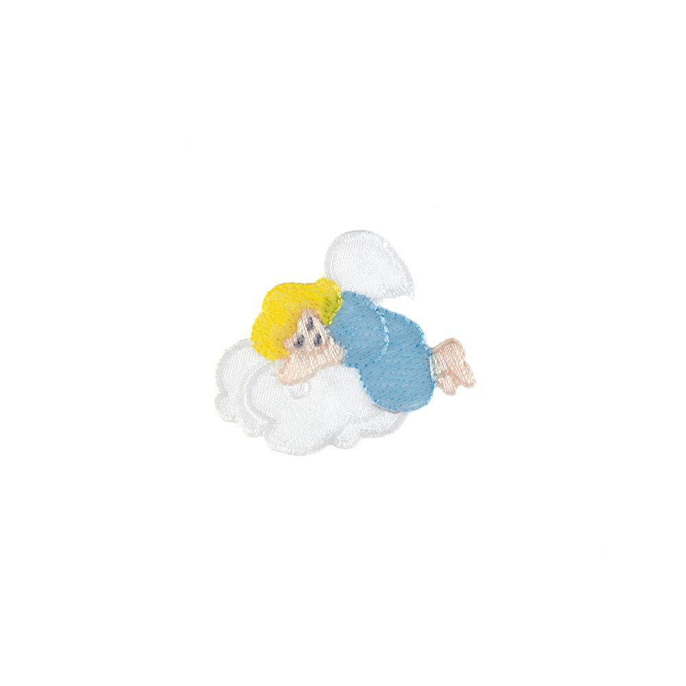Sleeping Angel Applique Blue