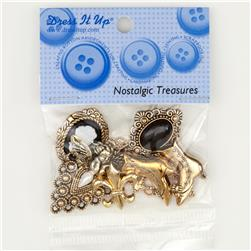 Dress It Up Embellishment Buttons  Nostalgic Treasures