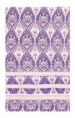 Crepe Paisley Pink/Blue/White