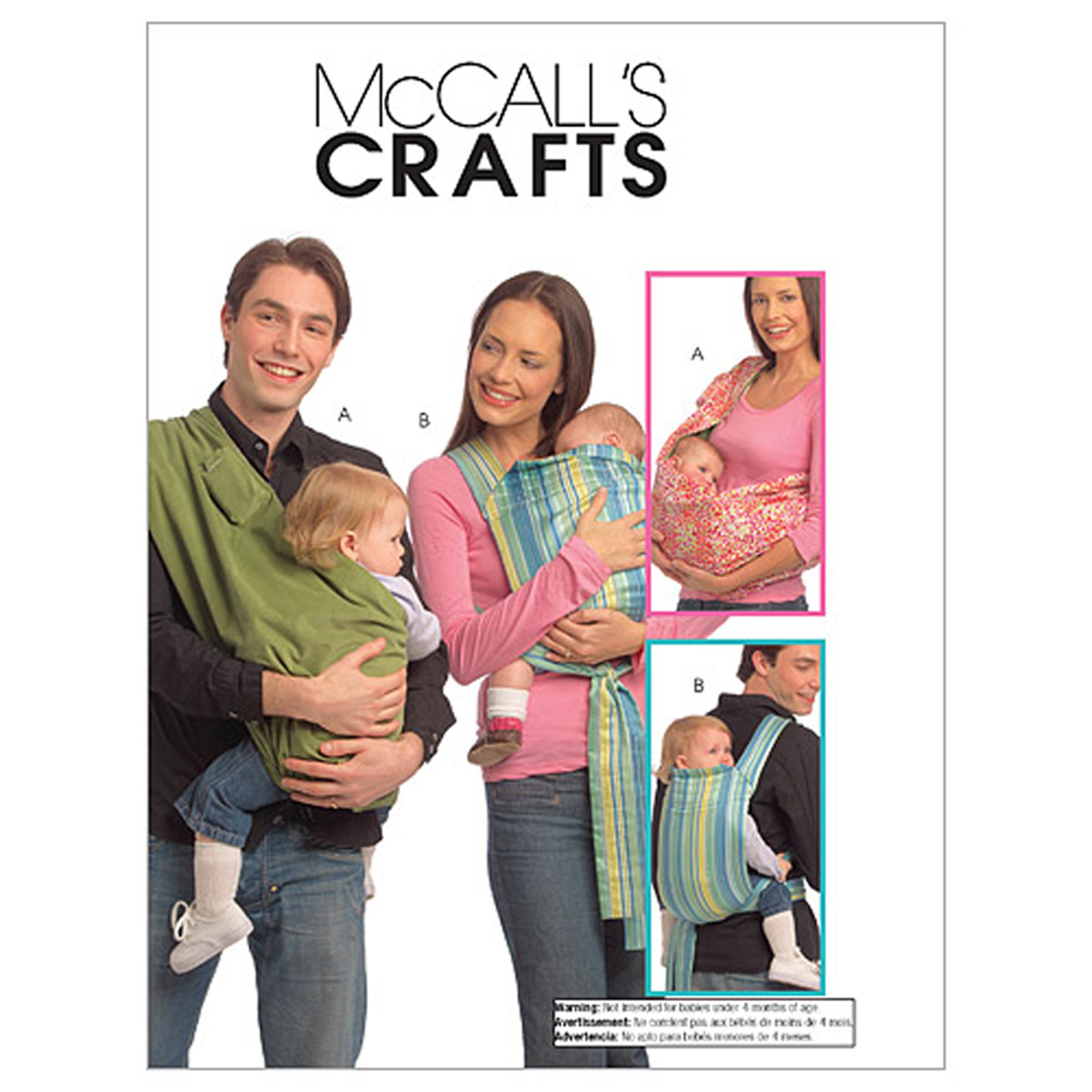 McCall's Baby Carriers Pattern M5678 Size OSZ by Kwik Sew in USA