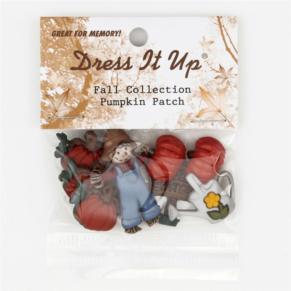 Dress It Up Embellisment Buttons Pumpkin Patch