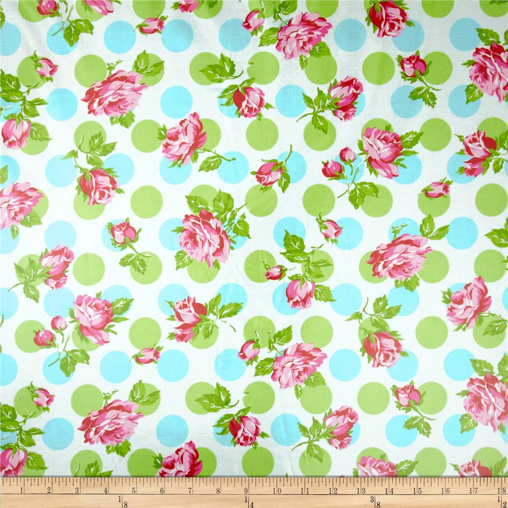 Tanya Whelan Sugar Hill Laminate Falling Roses Blue