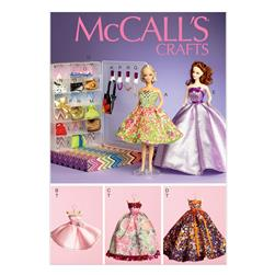 "McCall's Clothes and Accessories For 11½"" Doll and Display Boxes Pattern M6903 Size OSZ"