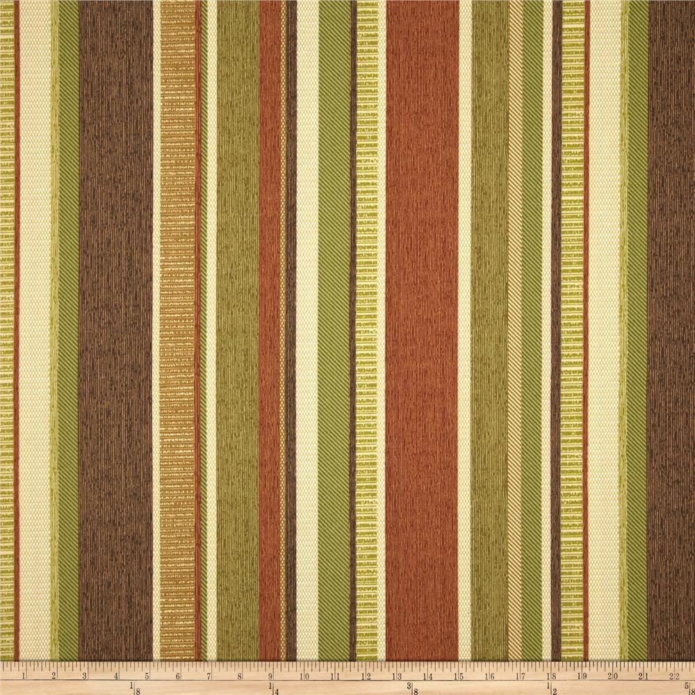 Richloom Solarium Outdoor Coltrane Stripe Nutmeg
