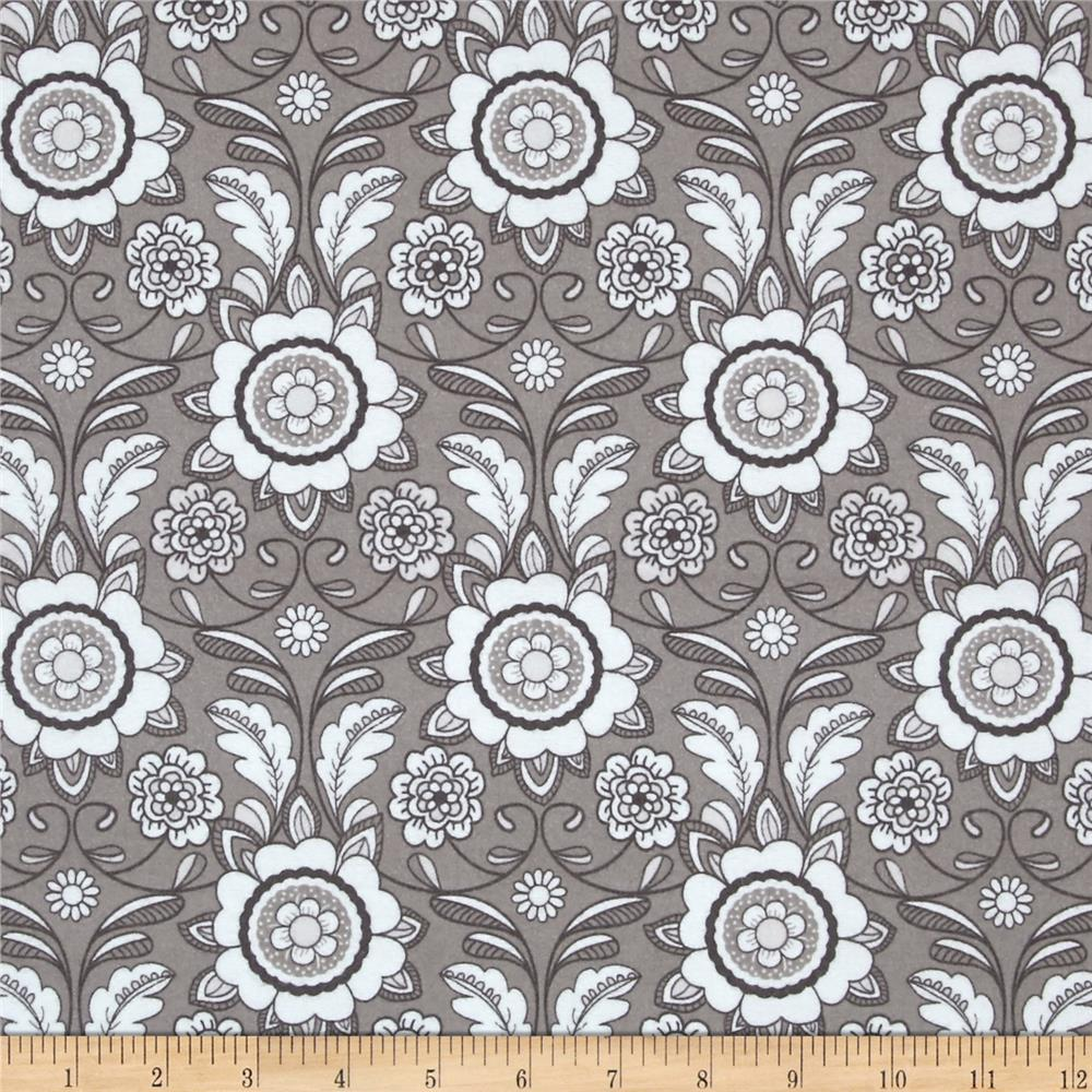 Riley Blake Parisian Flannel Scroll Gray