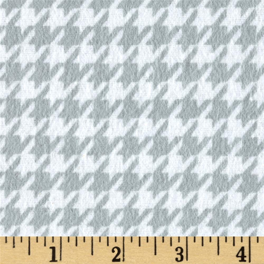 Flannel Houndstooth Grey