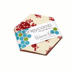 Moda Midwinter Reds Honeycomb Die Cut Assortment