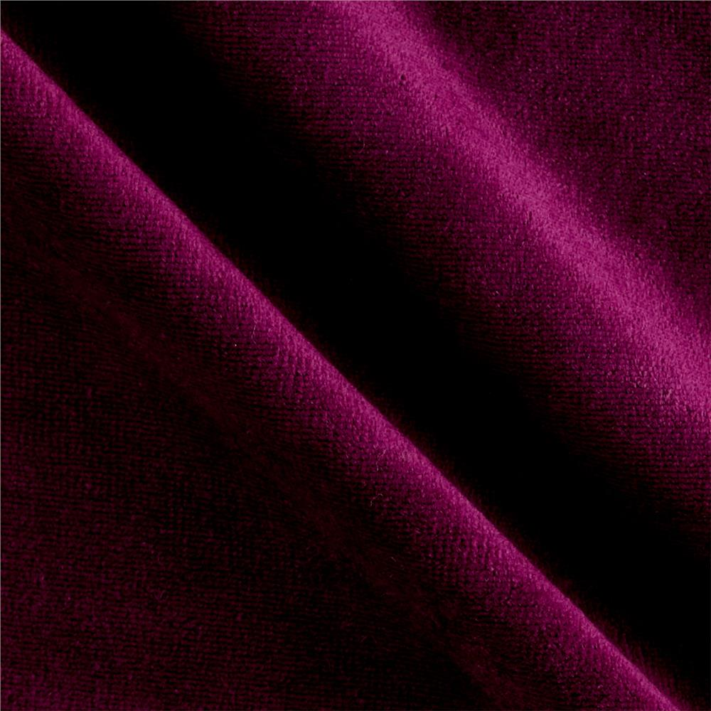 Solid Velour Berry Fabric
