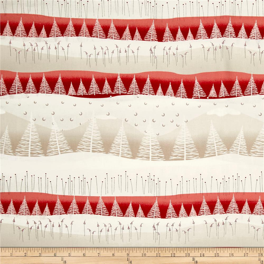 Silent Christmas Tree Scenic Cream/Red