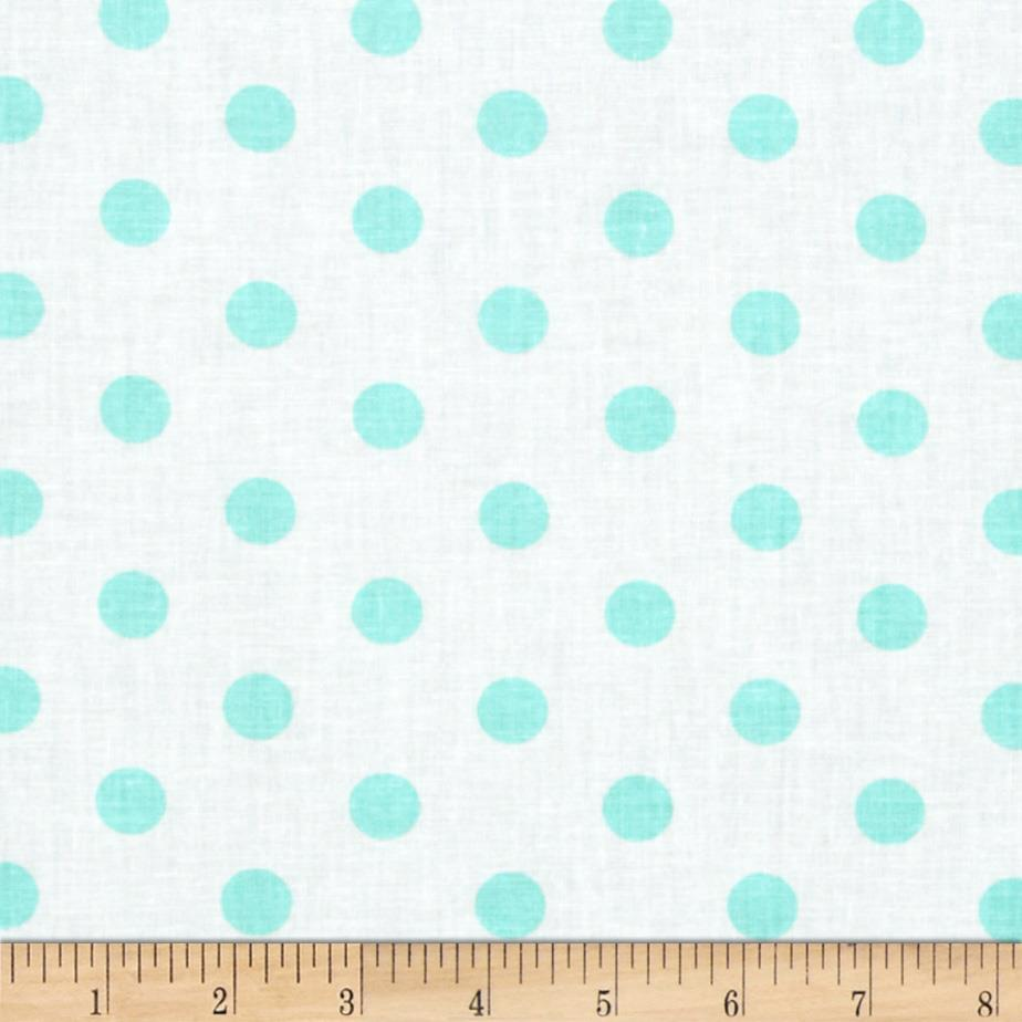 Spot On II Polka Dots White/Aqua