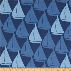 Splash Sailboats Blue