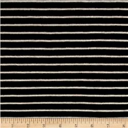 "Rayon Stripe 1/4"" x 1/8"" Black/Oatmeal"