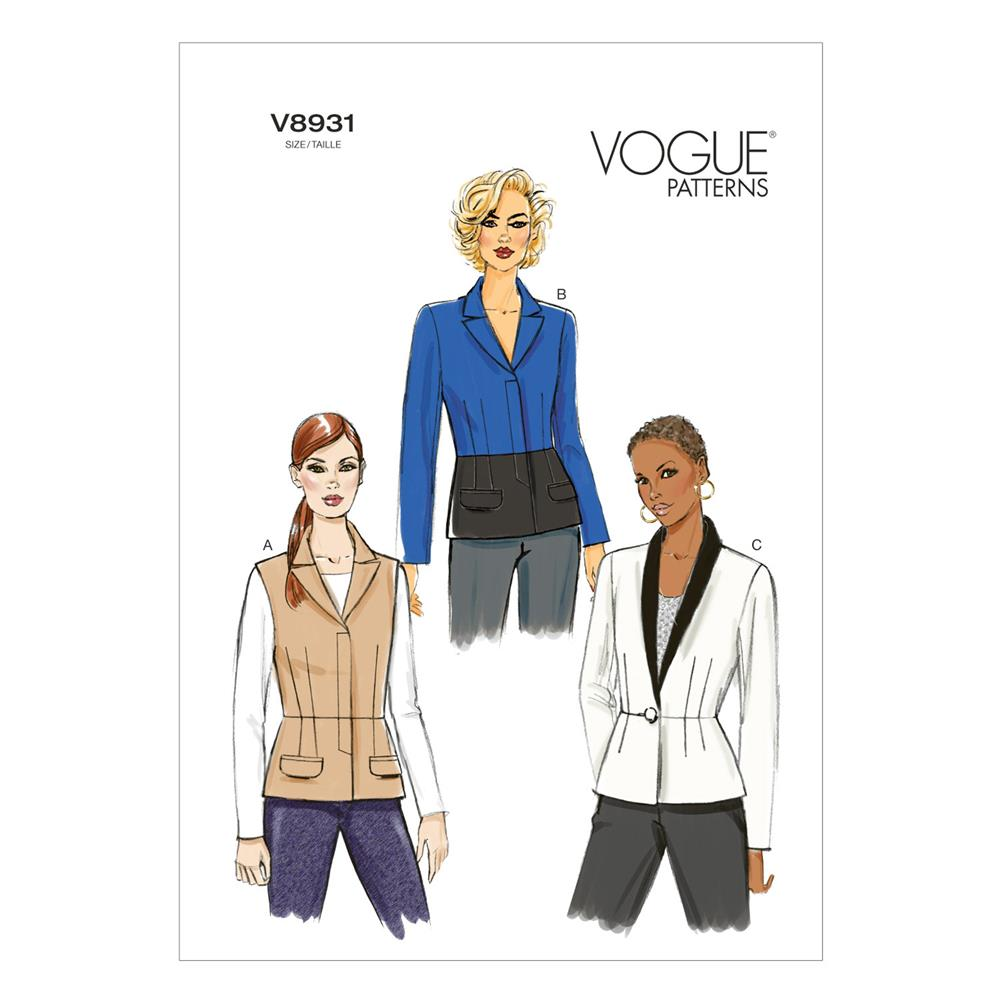 Vogue Misses' Jacket Pattern V8931 Size A50