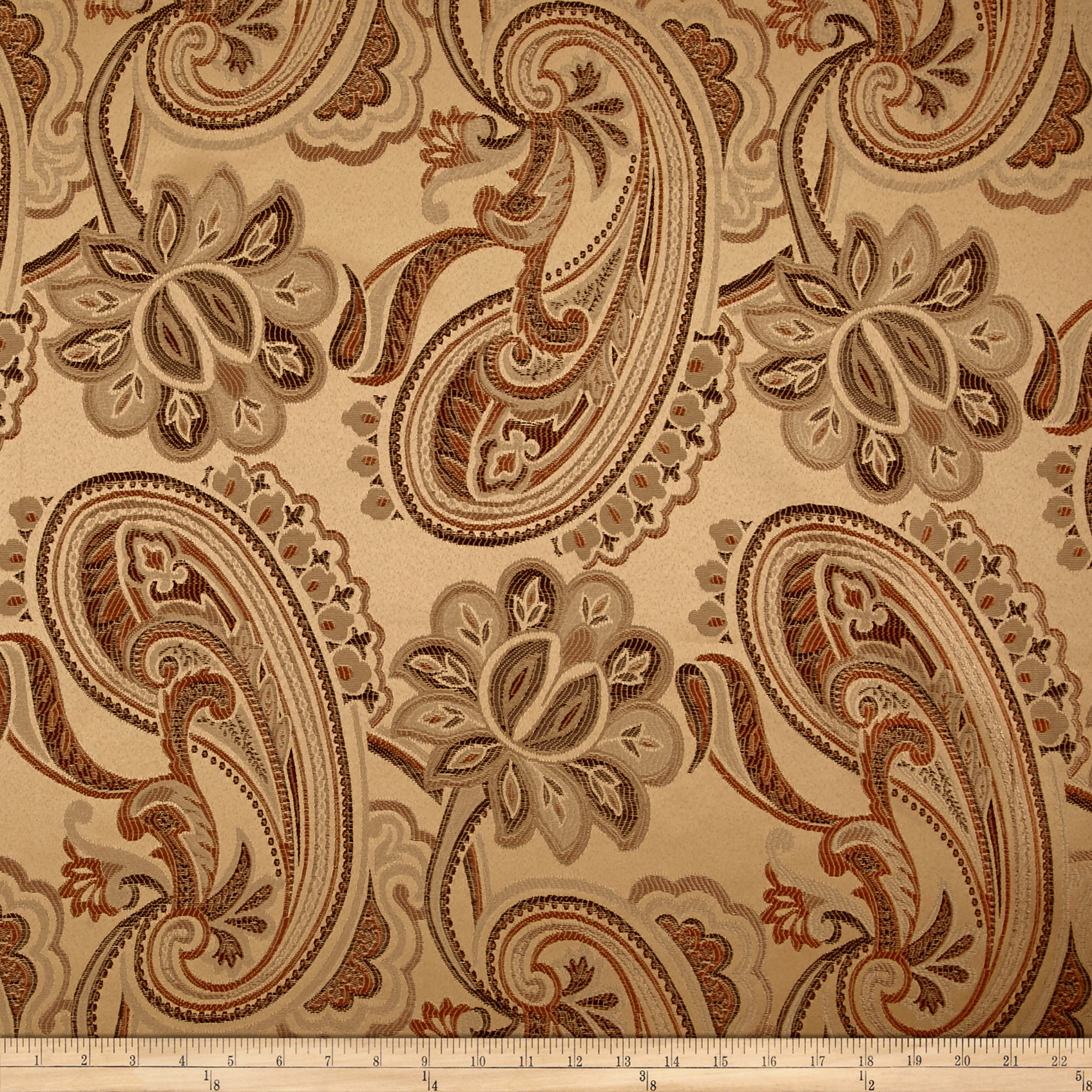 Eroica Dahlia Jacquard Ginger Fabric by Eroica in USA