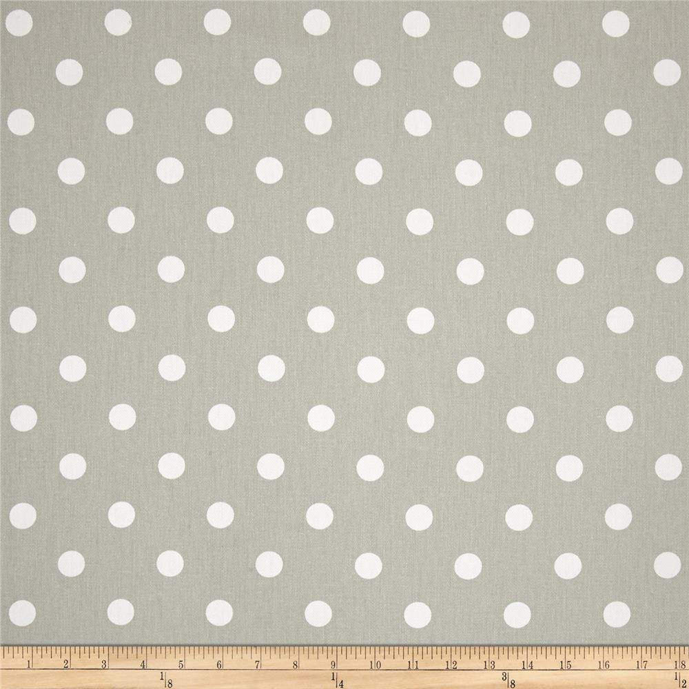 Premier Prints Polka Dot Twill Snowy White/Grey